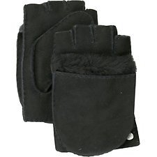 Image of UGG BLACK FINGERLESS FLIP MITTEN