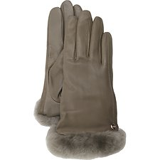 Image of UGG STORMY GREY CLASSIC LEATHER SHORTY TECH GLOVE